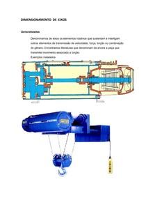 Elementos de maquinas- Dimensionamento de eixos