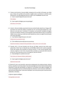 Questões de Parasitologia
