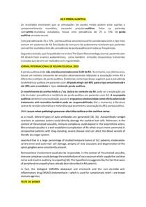 Artrite Reumatoide + Perda auditiva - Tutoria + Casos Clínicos