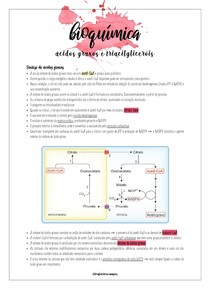 Bioquímica - Ácidos graxos e triacilgliceróis