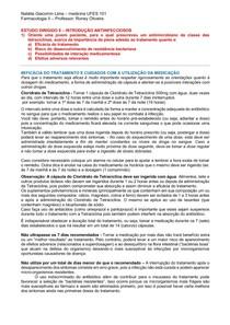 ESTUDO DIRIGIDO II - Farmacologia 24 09 2020