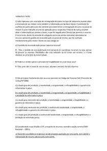 Casos  concretos 1 a 7 - Direito Processul civel III