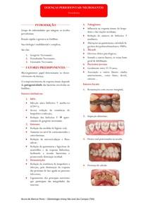 Resumo - Doenças Periodontais Necrosantes