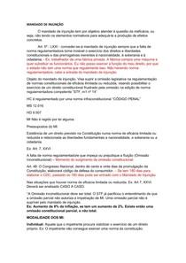 Aula de Dir. Constitucional - Católica SC - MANDADO DE INJUNÇÃO