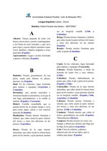Dicionario: roupas em espanhol