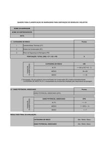 01   Quadro para classificacao de barragens de rejeitos de mineracao