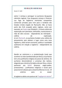 REVOLUÇÃO AMERICANA (enem/vestib./ens.medio)