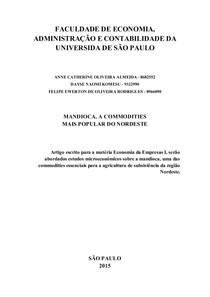 Análise do Mercado de Mandioca