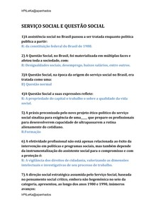 SERVIÇO SOCIAL E QUESTÃO SOCIAL