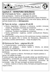 2013 Geografia Resumo Estrutura Geológica E Leitura Adiciona