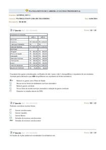 1º Simulado de Planejamento de Carreira e Sucesso Profissional (GST0918)