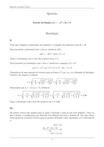 Estudo da função - Exercício resolvido - Renato da Silva Viana