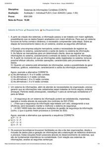 Avaliação I Flex - Sistemas de Informações Contábeis