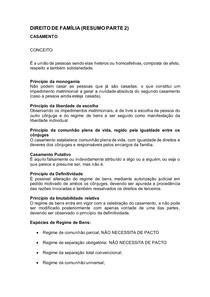 DIREITO DE FAMÍLIA (resumo parte 2)
