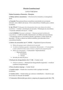 Direito Constitucional III - Ordem Econômica e Financeira - Princípios