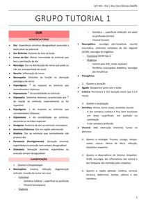TUTORIA 1 UNIDADE 13 - Dor Nociceptiva