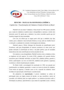 RESUMO - TRANSFORMAÇÕES DA CIDADANIA E ESTADO DE DIREITO NO BRASIL