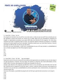 FICHA 7 DE QUESTÕES - PROBABILIDADE