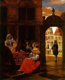 Pieter de Hooch  - Musical Party in a Courtyard