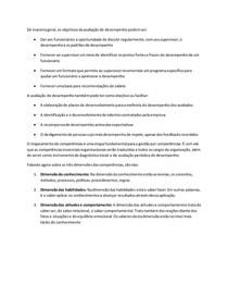 ATIVIDADE 1 - AVALIAÇÃO DE DESEMPENHO E GESTÃO POR COMPETÊNCIA