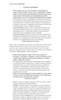 CULTURAS E SOCIEDADES