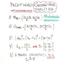 Geometria Analítica - Fundamentos - Pacotinhos Rafa Jesus