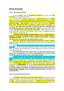 Direito de Família - Resumo Completo (aula Katia Regina)