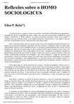 Reflexões sobre o HOMO SOCIOLOGICUS - Elisa Reis