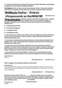 AVALIAÇÃO PROFOP DISLEXIA ULTRAPASSANDO AS BARREIRAS DO PRECONCEITO__