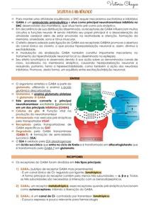 ANSIOLÍTICOS (ex.: benzodiazepínicos) E HIPNÓTICOS - SISTEMA GABAÉRGICO