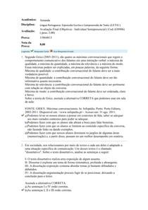 LP Expressão Escrita e Compreensão de Texto - Avaliação Final