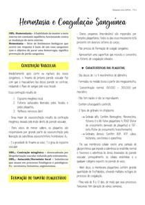 Hemostasia e Coagulação Sanguínea (Cap. 37 - Guyton e Hall 13ª ed.)