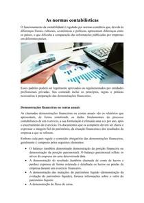 As normas contabilísticas