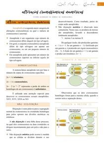 Alterações cromossômicas numéricas (síndrome de klinefelter, síndrome de down, síndrome de patau e síndrome de edwards) - Citogenética
