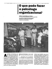 Artigo - O que pode fazer o Psicologo Organizacional