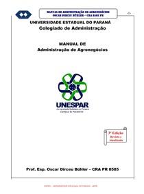 Manual de Administração de Agronegócios