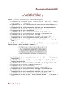 Matemática Atuarial I 4ª Lista de Exercícios