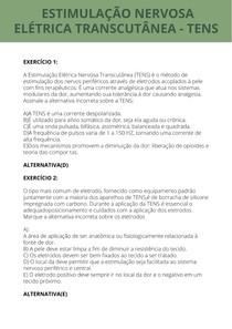 EXERCÍCIOS TENS - UNIP
