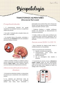 Transtornos alimentares - Anorexia