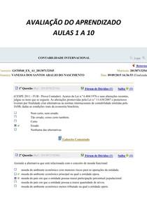 CONTABILIDADE INTERNACIONAL AULAS 1 A 10 MAIS SIMULADO