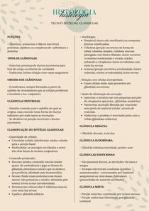 Histologia - Tecido epitelial glandular