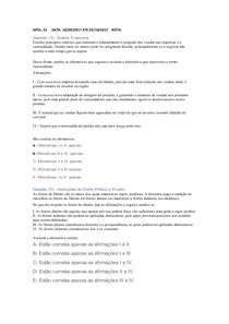 APOL 01  Analise financeira