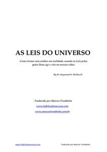 As leis do universo - Raymond N Holliwell