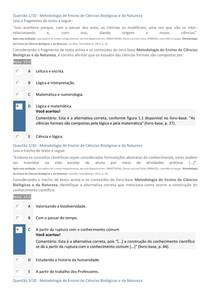 APOL - METODOLOGIA DE ENSINO DE CIÊNCIAS BIOLÓGICAS E DA NATUREZA - GABARITADA 3