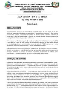 AULA EXTERNA - TEXTOS DE APOIO