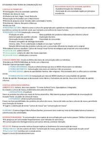 RESUMO TEORIAS DA COMUNICAÇÃO AV2