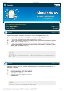 SIMULADO PRINCIPIOS DE QUIMICA BIOLÓGICA MARY