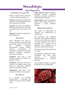 Hematologia - série plaquetária