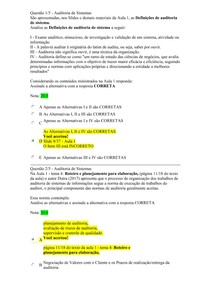 APOL 1 Auditoria de Sistemas NOTA 100