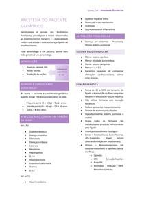 Anestesia do paciente geriátrico